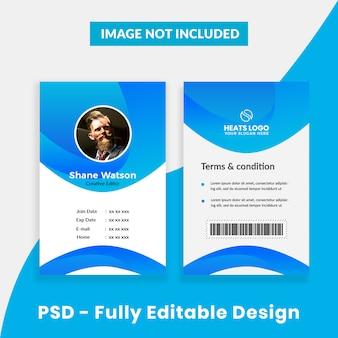 Kreative firmenausweisvorlage
