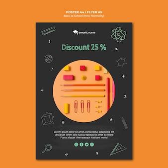 Kreative flyer-vorlage für den schulanfang