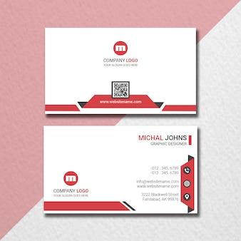 Kreative horizontale visitenkarte