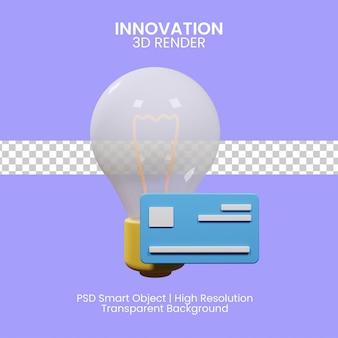 Kreative ideen zahlungskonzept 3d-darstellung