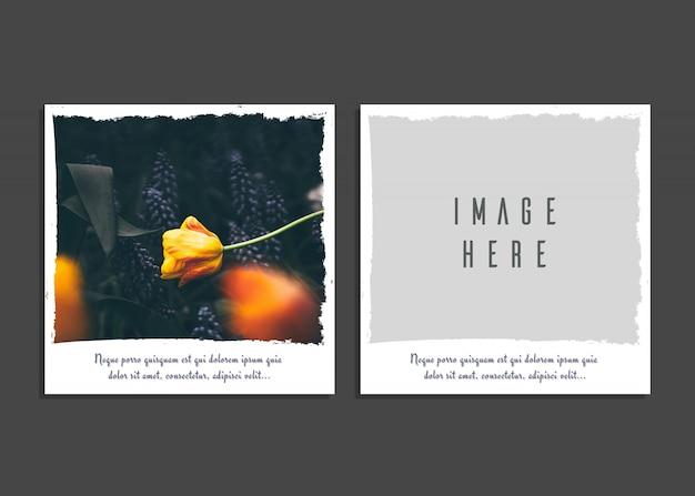 Kreative kartenvorlage mit bild