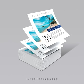 Kreative konzeptdecks des quadratischen flyer-modells