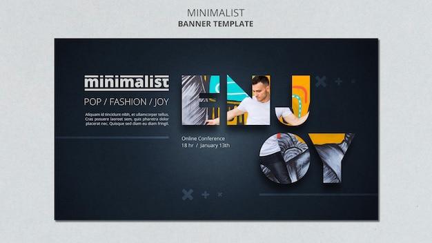 Kreative minimalistische banner-vorlage