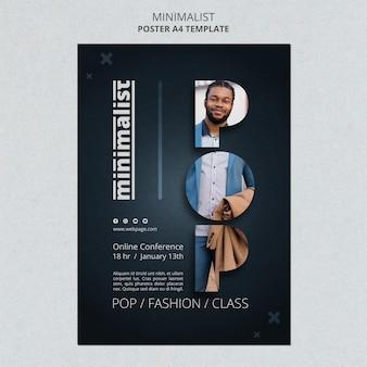 Kreative minimalistische flyer-vorlage