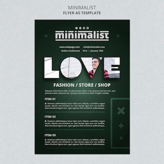 Kreative minimalistische plakatvorlage