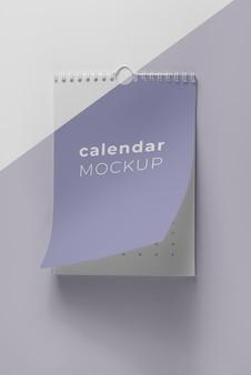 Kreative mock-up-kalenderzusammensetzung