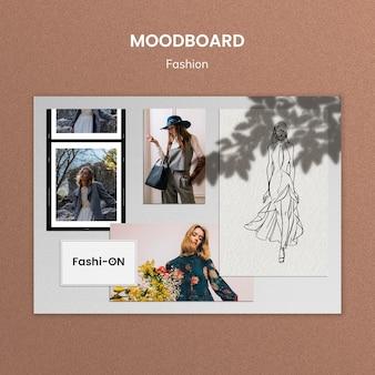 Kreative mode moodboard vorlage