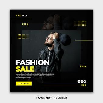 Kreative moderne minimalistische modeverkaufsfahnenschablone