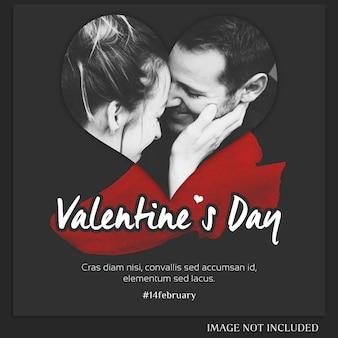 Kreative moderne romantische valentinstag-instagram-schablone und foto-modell