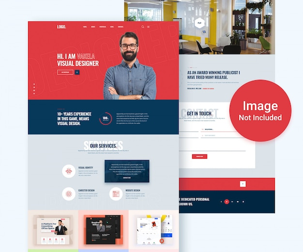 Kreative portfolio-website psd vorlage