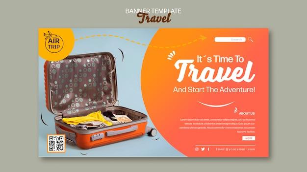 Kreative reisebanner-vorlage
