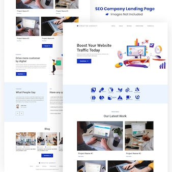 Kreative seo agency website und apps development landing page