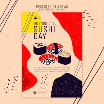 Kreative sushi-plakatschablone