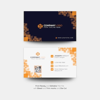 Kreative und coporate visitenkartenvorlage