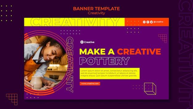 Kreative und fantasievolle banner-designvorlage