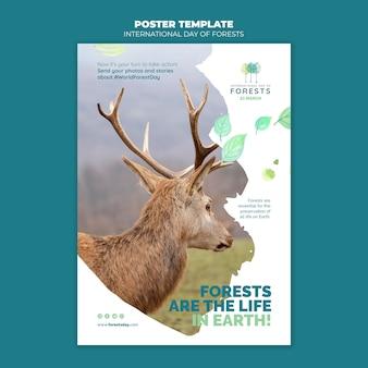 Kreative wälder tag flyer vorlage