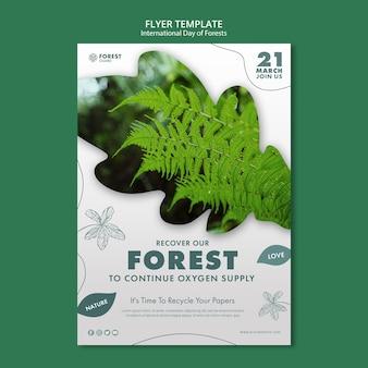 Kreative wälder-tagesplakatschablone