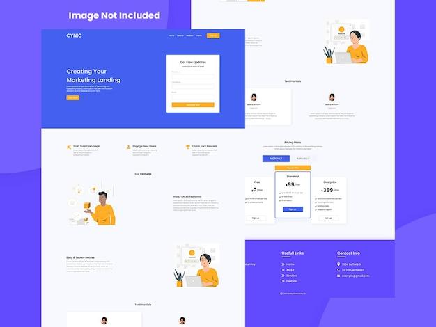 Kreative website business-landingpage