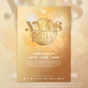 Kreative weihnachtsfeier cover vorlage