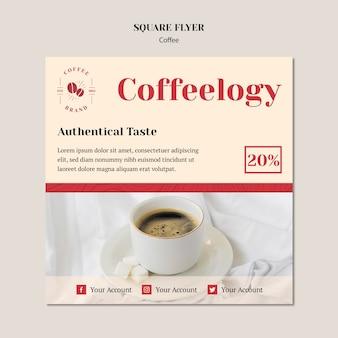 Kreativer kaffeestubequadratflieger