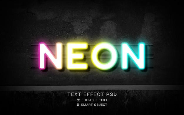 Kreativer neontexteffekt