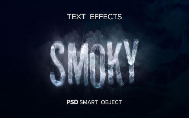Kreativer rauchtexteffekt Kostenlosen PSD