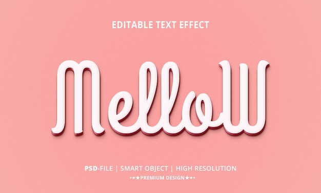 Kreativer, sanfter 3d-texteffektstil