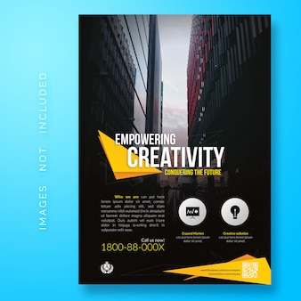 Kreativer unternehmensflyer