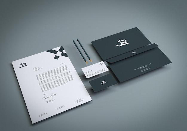 Kreatives branding-briefpapier-mockup