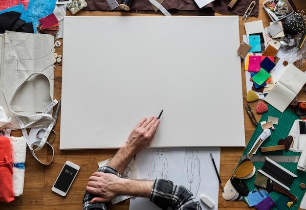 Kreatives design-kleidermode-trend-stilvolles konzept