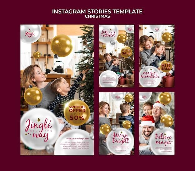 Kreatives festliches weihnachts-ig-geschichten-paket