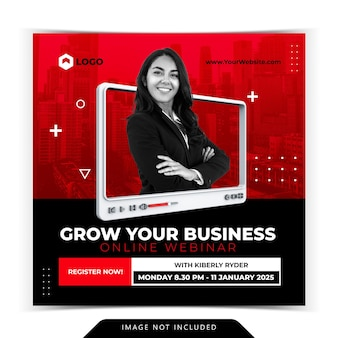 Kreatives konzept live-streaming business development post vorlage