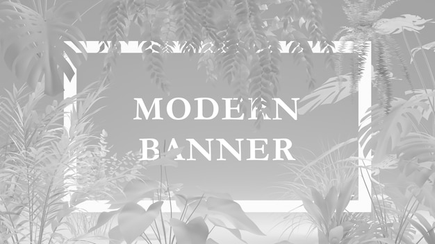 Kreatives layout aus pflanzen mit papierkartenanmerkung. natur-konzept