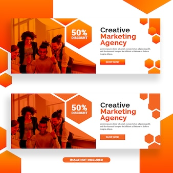 Kreatives marketing agentur facebook banner