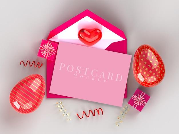 Kreatives modell der postkarte der osterferien