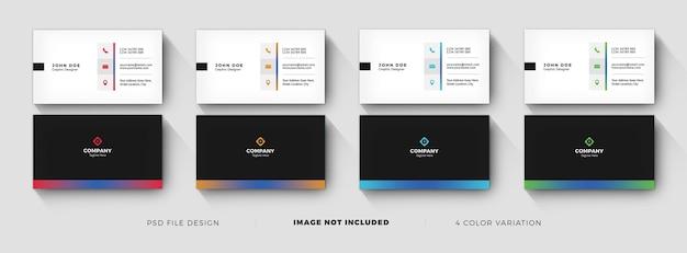 Kreatives visitenkartenvorlagen-design