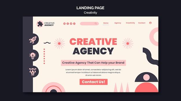 Kreativitäts-landingpage