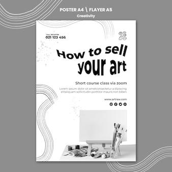 Kreativitätsdruckvorlage mit foto Kostenlosen PSD
