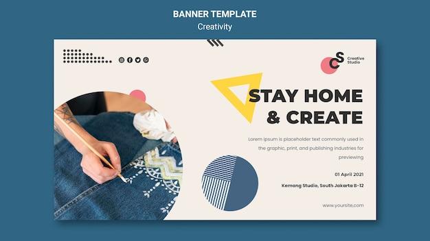Kreativitätskonzept-banner-vorlage
