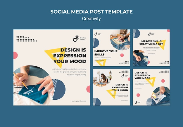Kreativitätskonzept social media post Kostenlosen PSD