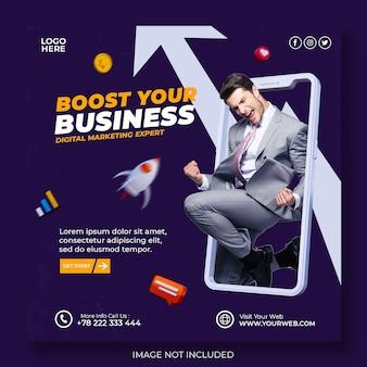 Kreativkonzept agentur für digitales marketing und social-media-post-vorlage