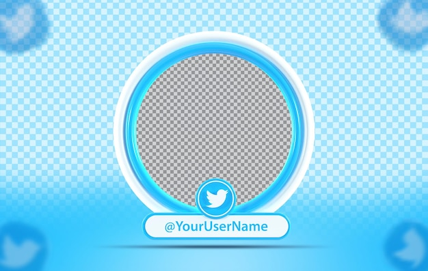 Kreativkonzept mockup-profil mit twitter-symbol