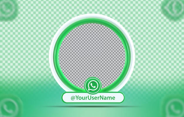 Kreativkonzept-mockup-profil mit whats-app-symbol