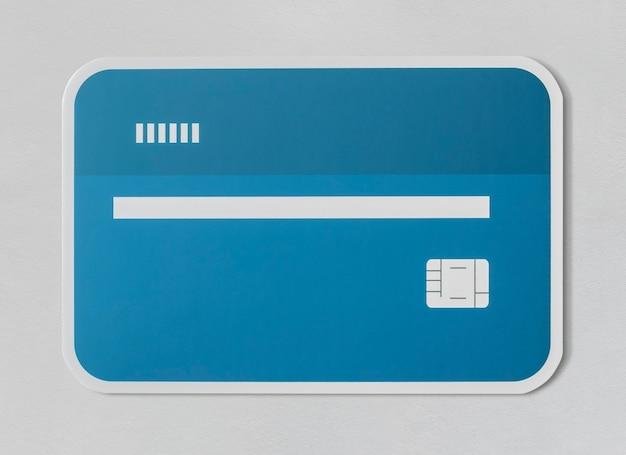 Kredit debit bankkartensymbol