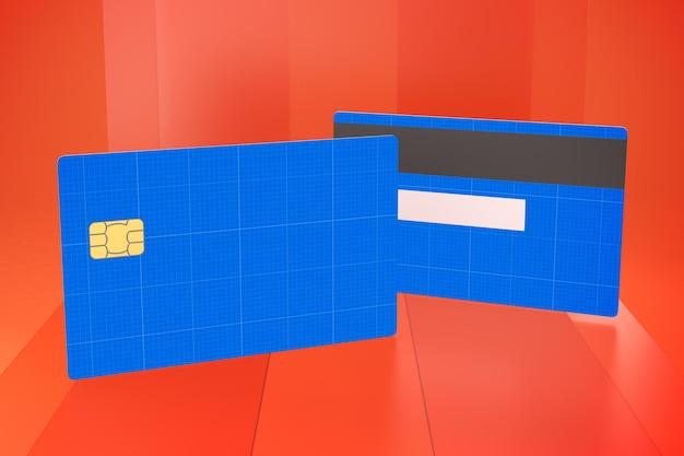 Kreditkarte auf glas