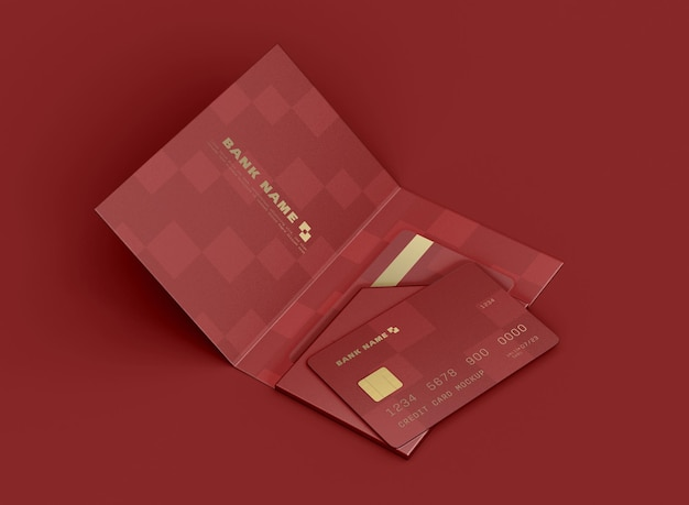 Kreditkarte im ordner-mockup