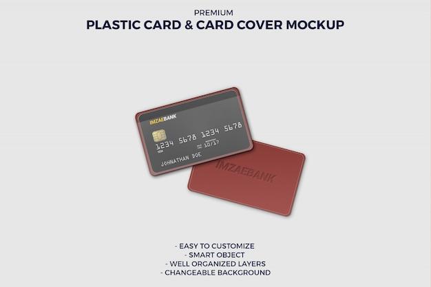 Kreditkarte mit kartenhülle