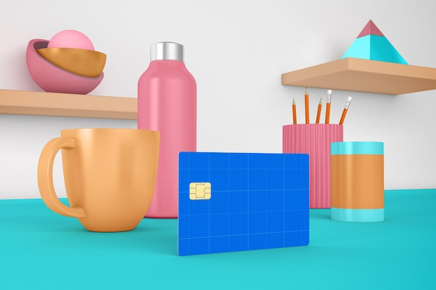 Kreditkarten-desktop-modell