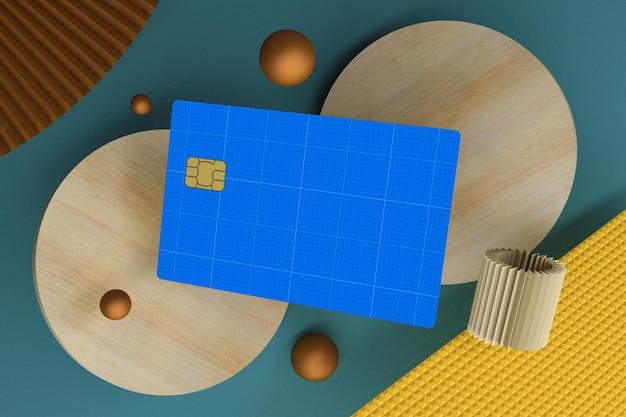 Kreditkartenansicht von oben