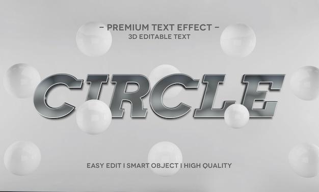 Kreisen sie die 3d-textstil-effektvorlage ein